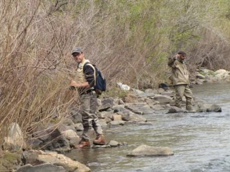 Trout fishers in Clear Creek